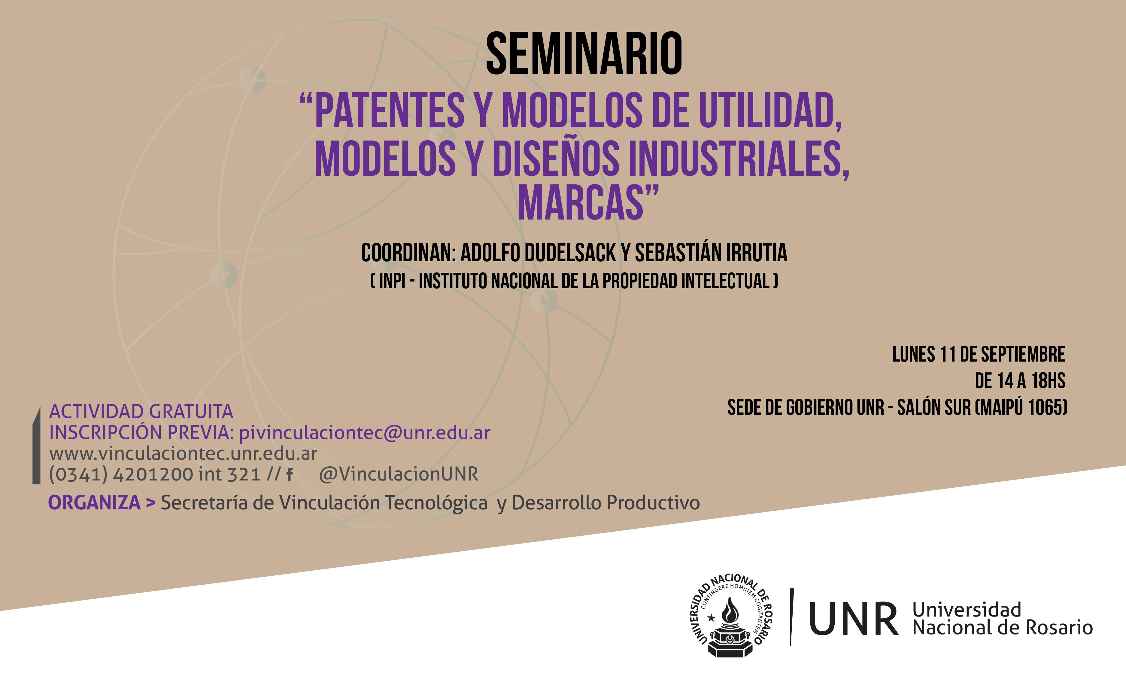 Flyer Seminario Patentes y otros registros con el INPI 11-09